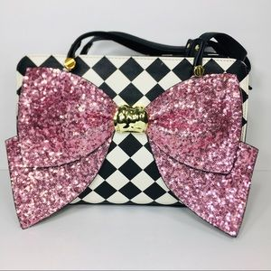 Betsey Johnson Checkered Print Handbag